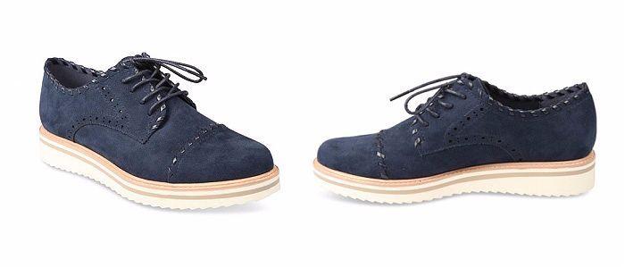 zapato Derby azul
